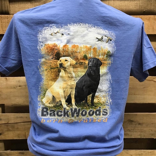 Backwoods Born & Raised 2 Labs with Flying Ducks