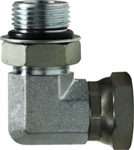 Hydraulic Hose O-Ring Face Adapters - 90° O-Ring Swivel Adapter | Hose & Fitting Supply