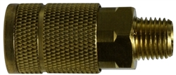 Brass Male Coupler - Pneumatic Quick Disconnects for Hoses