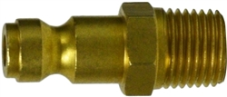 Brass Male Plug - Pneumatic Quick Disconnects for Hoses