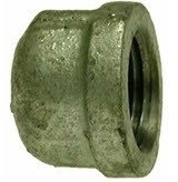 Black & Galvanized Hose Fittings - Cap