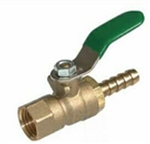 Brass Mini Valve- Female X Hose Barb