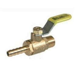 Brass Mini Valve- Hose Barb X Male