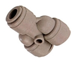 Nickel Push to Connects Hose Fittings - Union Y Tube X Tube