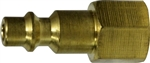 Industrial Interchange Brass Female Plug