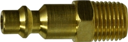 Industrial Interchange Brass Male Plug