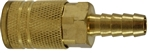 Industrial Interchange Hose Barb Coupler Brass