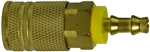 Industrial Interchange Push-On Coupler Brass
