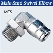 Stainless Push to Connect Fittings -Male Swivel Elbow