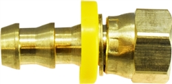Brass Push on Female JIC