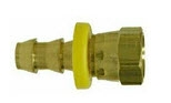 Hose Barb Brass Fittings - Push On Female NPSM With Gasket