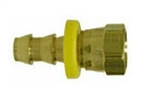 Hose Barb Brass Fittings - Push On Female NPSM With Ball Seat