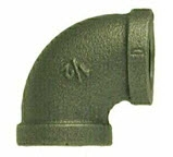 Black and Galvanized Malleable Iron 150# Elbow 90 Reducing