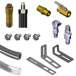 Automobile Oiler Hose Spare Part Kits - Line Kit with Shut Off