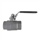 2-PC BALL VALVE, FULL PORT, THREADED END, 1000 WOG