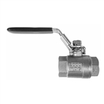 2-PC BALL VALVE, FULL PORT, THREADED END, 2000 WOG