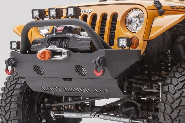 Body Armor 4x4 Mid-Stubby Front Winch Bumper for 2007-2016 Jeep