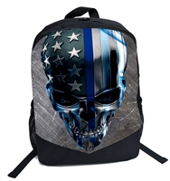 Blue Lives Matter Steele Skull