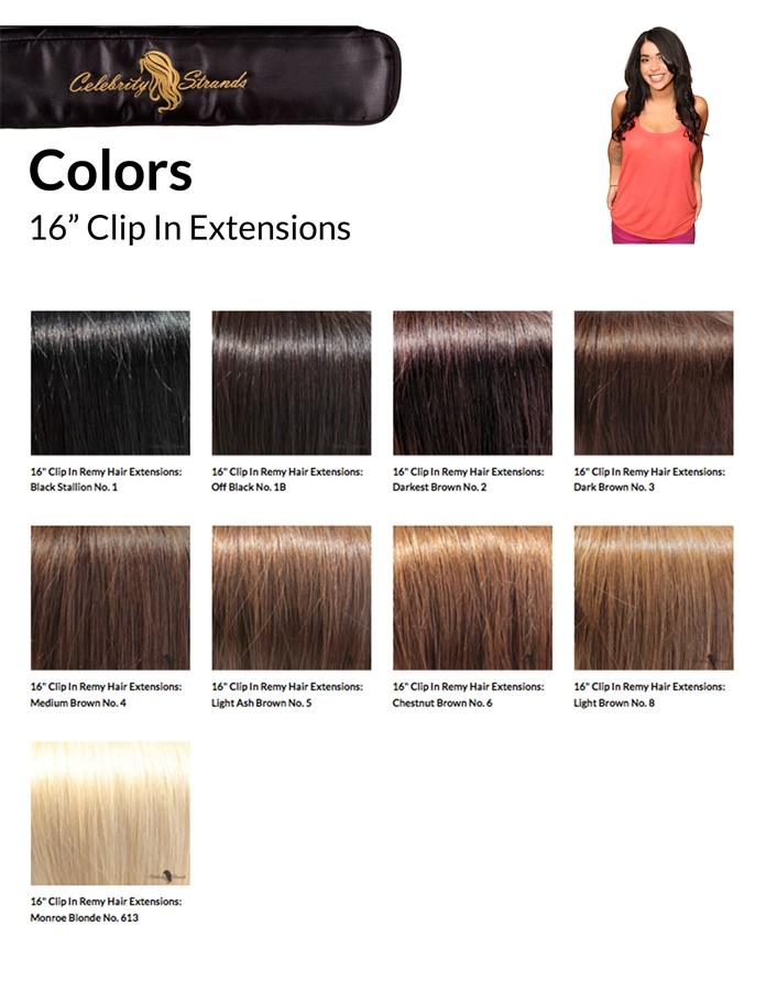 16 Celebrity Strands Clip In Extensions