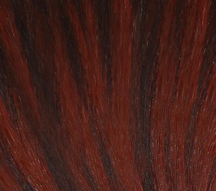 Hair Extension Sample Darkest Brown Bright Red Copper Mix