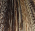 Hair Extension Sample Medium Reddish Brown-Platinum Blond mix