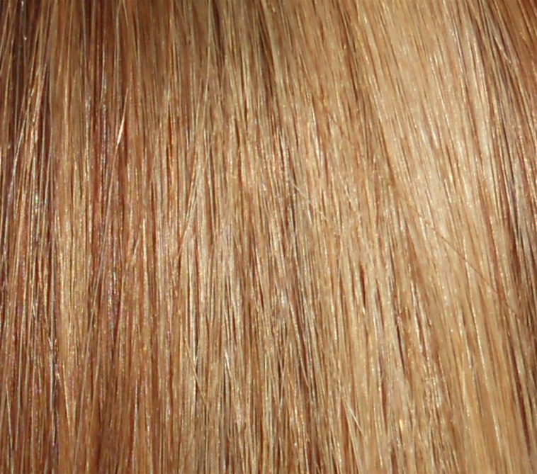 Hair Extension Sample Medium Ash Brown Pale Golden Blond Mix P824