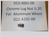 013-3001-00 - Bad Boy Mowers Chrome Lug Nut 1/2 20 for use on aluminum wheels 022-4202-00