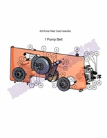 Bad Boy Mower Part 2007 AOS 60 CLUTCH ASSEMBLY