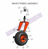 Bad Boy Mower Part 2007 AOS FRONT WHEEL ASSEMBLEY