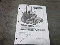 Bad Boy Mower Part - 088-7001-15B - 2015 1500cc Diesel Owner's Manual