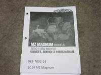Bad Boy Mower Part - 088-7002-14 - 2014 MZ Magnum Owner's Manual