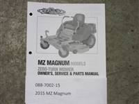 Bad Boy Mower Part - 088-7002-15 - 2015 MZ Magnum Owner's Manual