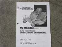 Bad Boy Mower Part - 088-7002-16 - 2016 MZ Magnum Owner's Manual