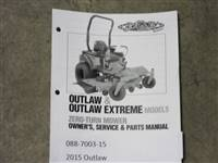 Bad Boy Mower Part - 088-7003-00 - 2012 Outlaw & Outlaw Extreme Owner's Manual