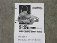 Bad Boy Mower Part - 088-7003-16 - 2016 Outlaw & Outlaw Extreme Owner's Manual