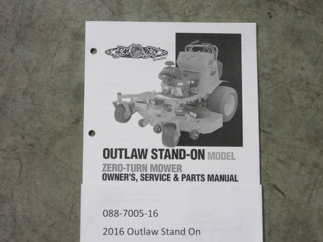 bad boy mower part 2016 outlaw stand on owner s manual rh badboylawnmowerparts com