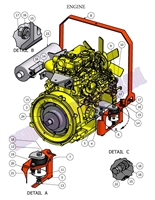 Bad Boy Mower Part - 2008 DIESEL ENGINE ASSEMBLY