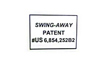 Bad Boy Mower Part Swing-Away Patent Decal