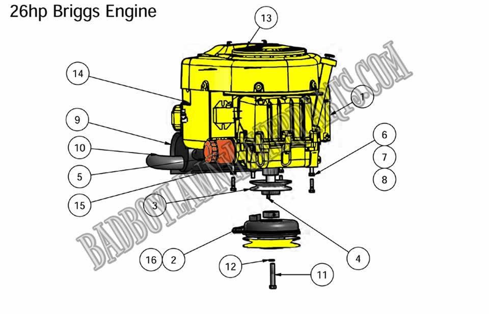 bad boy mower part, 2010 zt 26hp briggs enginebad boy mower part 2010 zt 26hp briggs engine