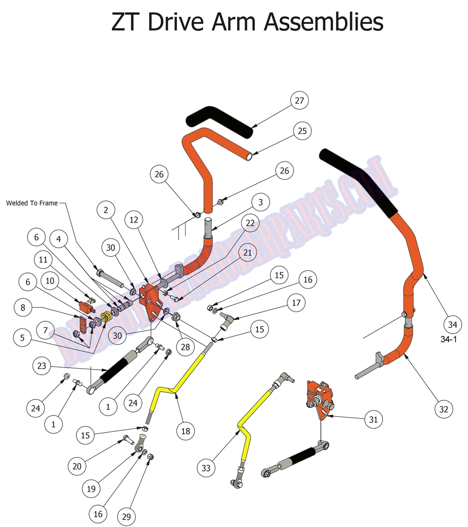 Bad Boy Mower Part, 2015 ZT ELITE DRIVE ARMS Bad Boy Inch Mower Safety Switches Wiring Diagram on