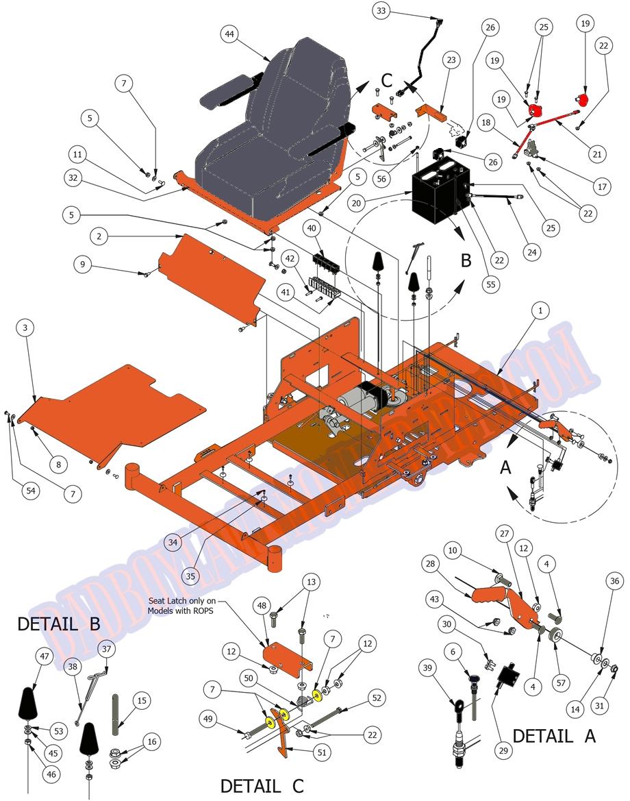 bad boy wiring diagram 2012 bad boy mower part  2015 zt elite seat frame assembly  bad boy mower part  2015 zt elite seat