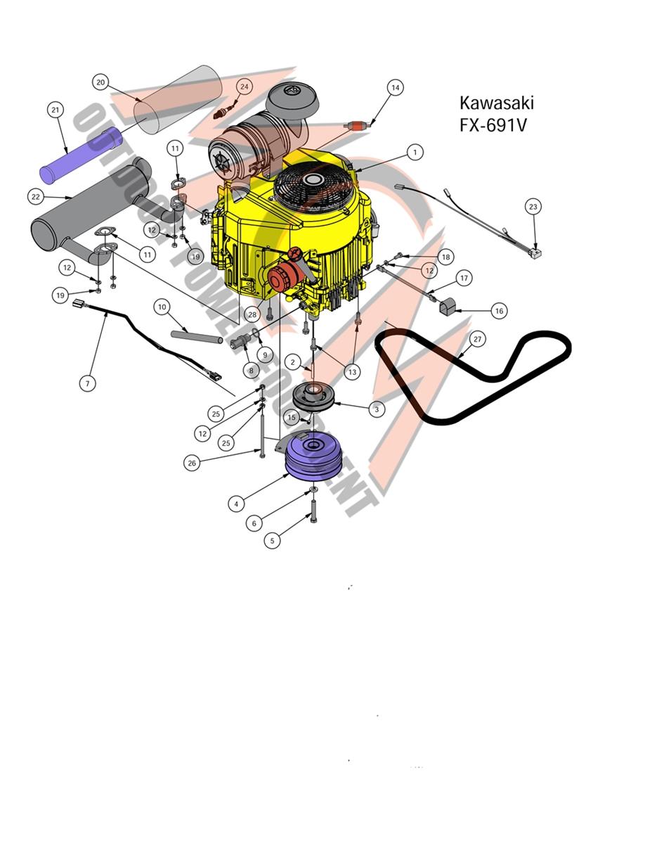 Bad Boy Mower Part, 2016 COMPACT OUTLAW KAWASAKI FX-691V ENGINE Bad Boy Wiring Diagram on bad boy accessories, lawn boy wiring diagram, bad boy horn diagram, bad boy controller diagram, bad boy parts diagram,