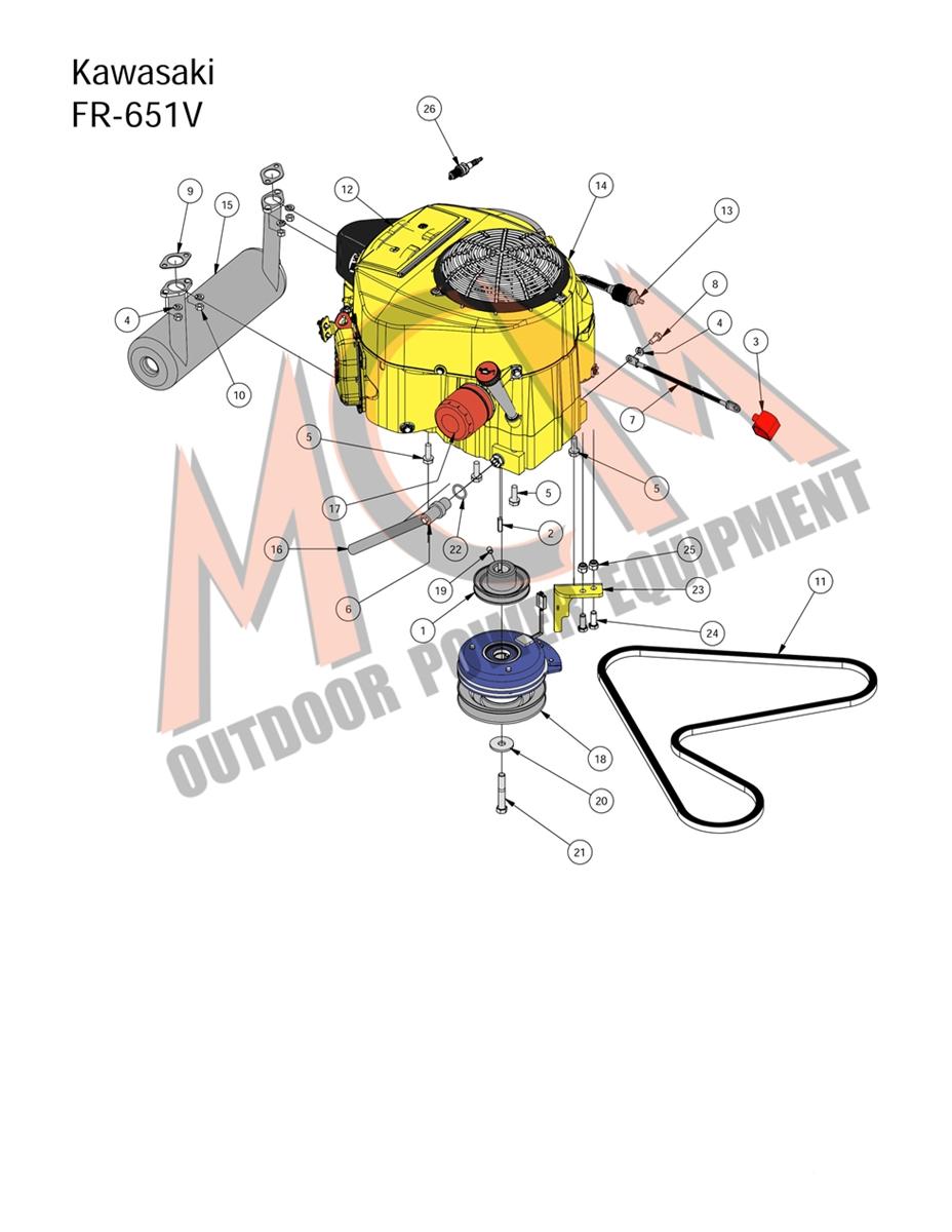 Bad Boy Mower Part, 2016 MZ MAGNUM KAWASAKI FR-651V ENGINE