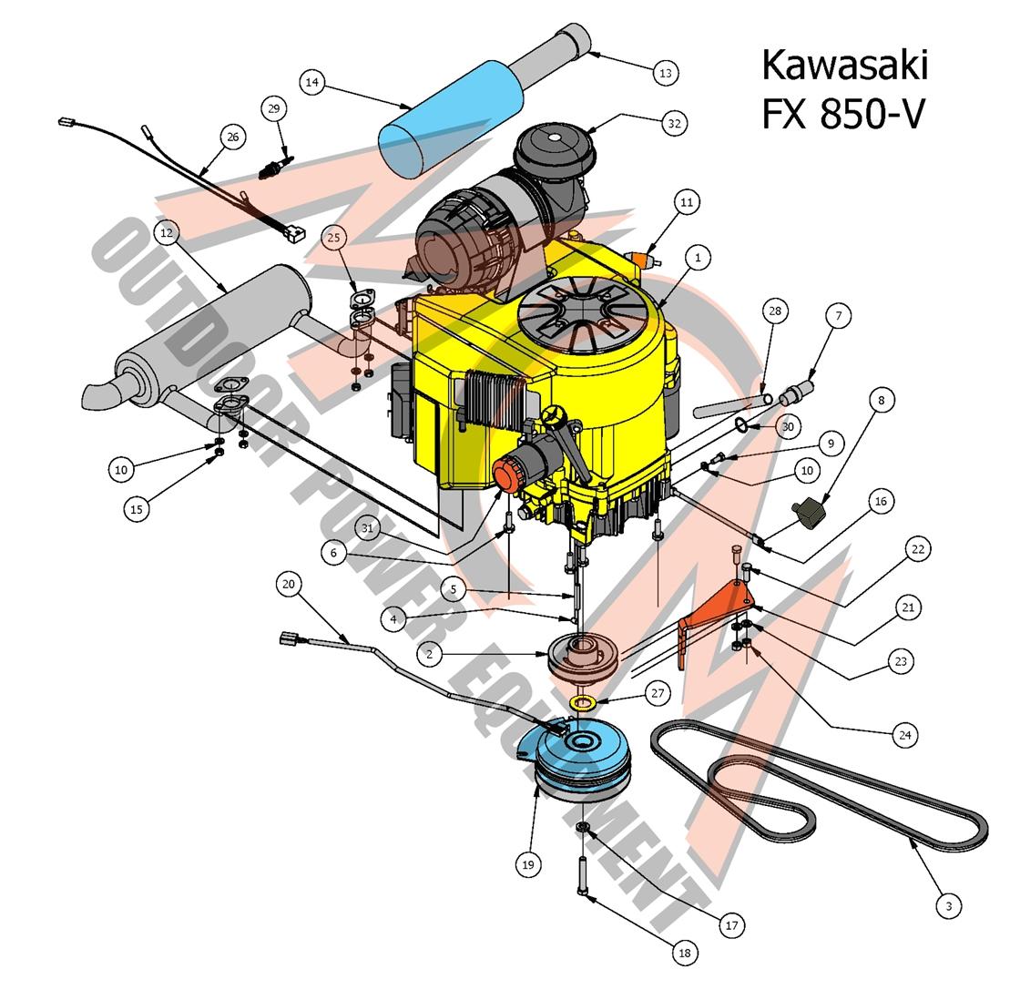 Bad Boy Mower Part, 2017 OUTLAW & OUTLAW EXTREME KAWASAKI ... Kawasaki Fx Va Schematic Diagram on