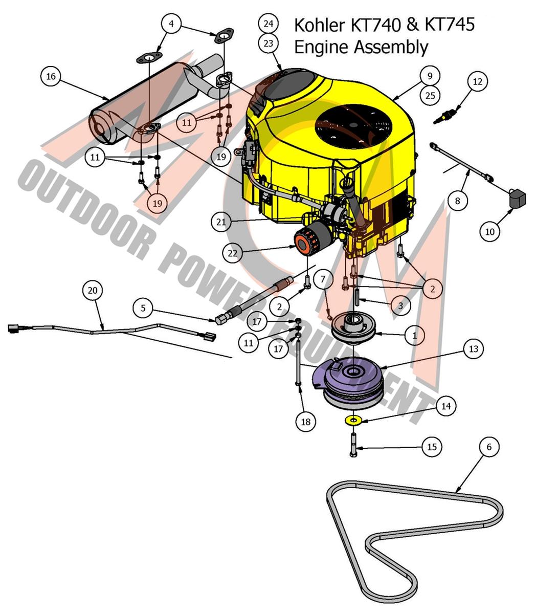 Bad Boy Mower Part, 2017 ZT ELITE KOHLER 740CC & 745CC ENGINE