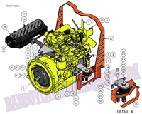 Bad Boy Mower Part 2011 DIESEL ENGINE (28Hp) ASSEMBLY