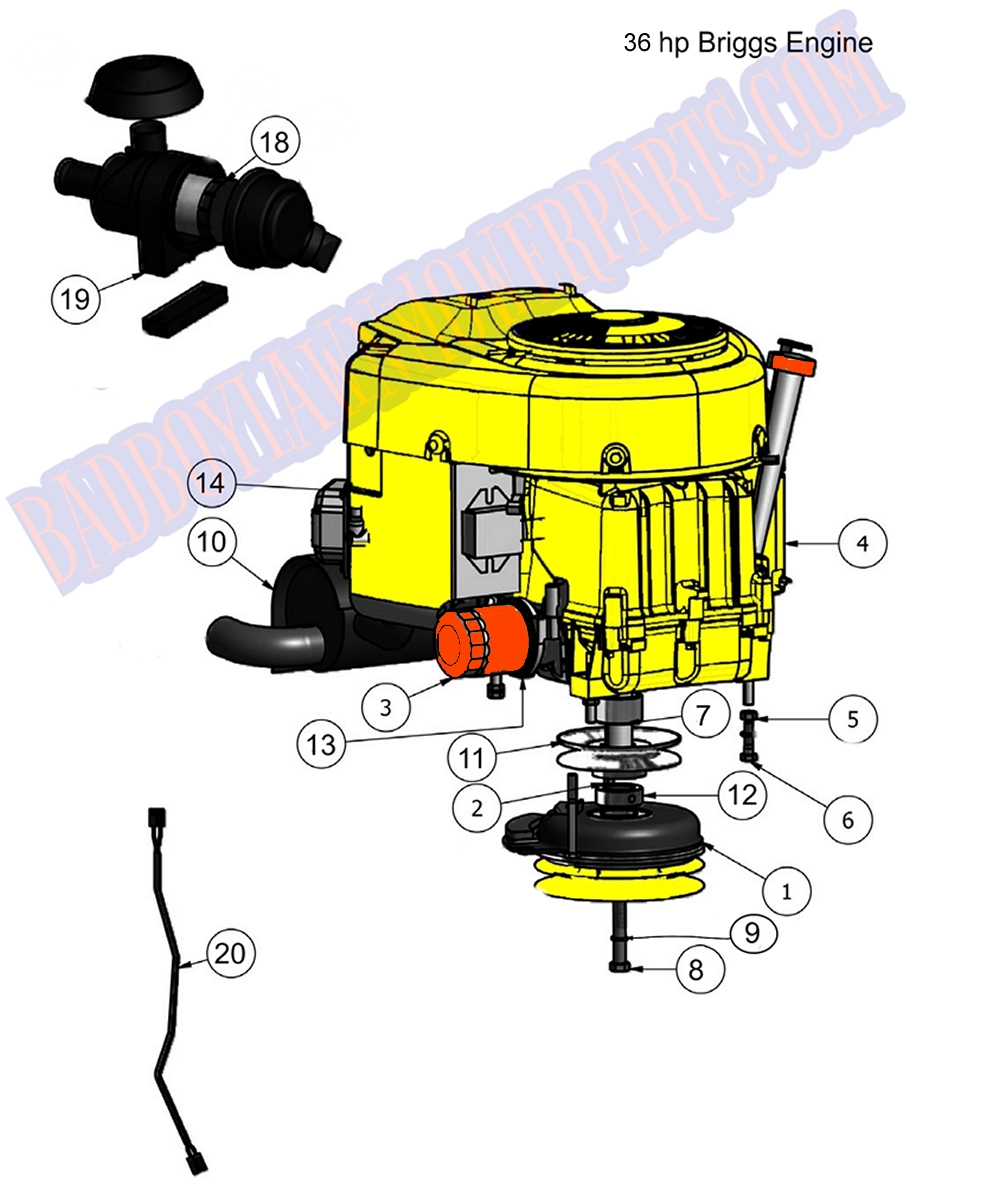 briggs engine diagram bad boy mower part  2011 outlaw engine  36hp briggs  assembly briggs and stratton engine diagram bad boy mower part  2011 outlaw engine