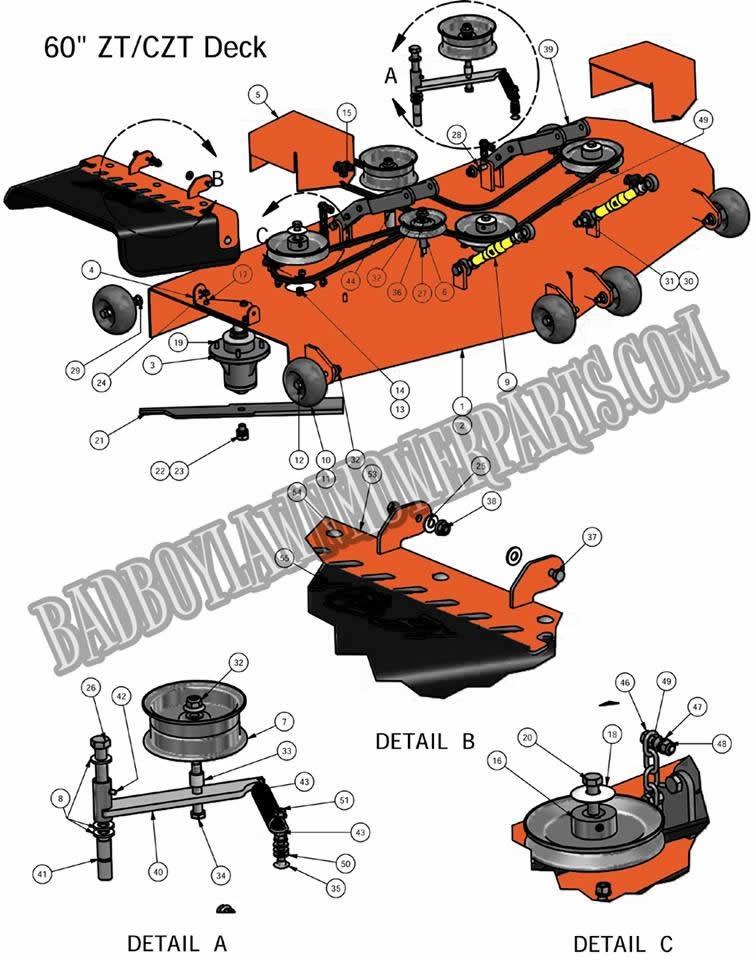 Bad Boy Mower Part, 2011 ZT 60