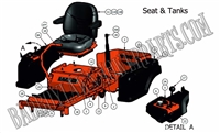 Bad Boy Mower Part 2011 ZT SEAT & TANK ASSEMBLY