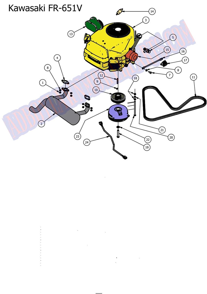 ... ENGINE (Kawasaki FR651V) · Larger Photo